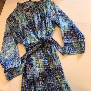 VICTORIAS SECRET blue mosaic full length robe